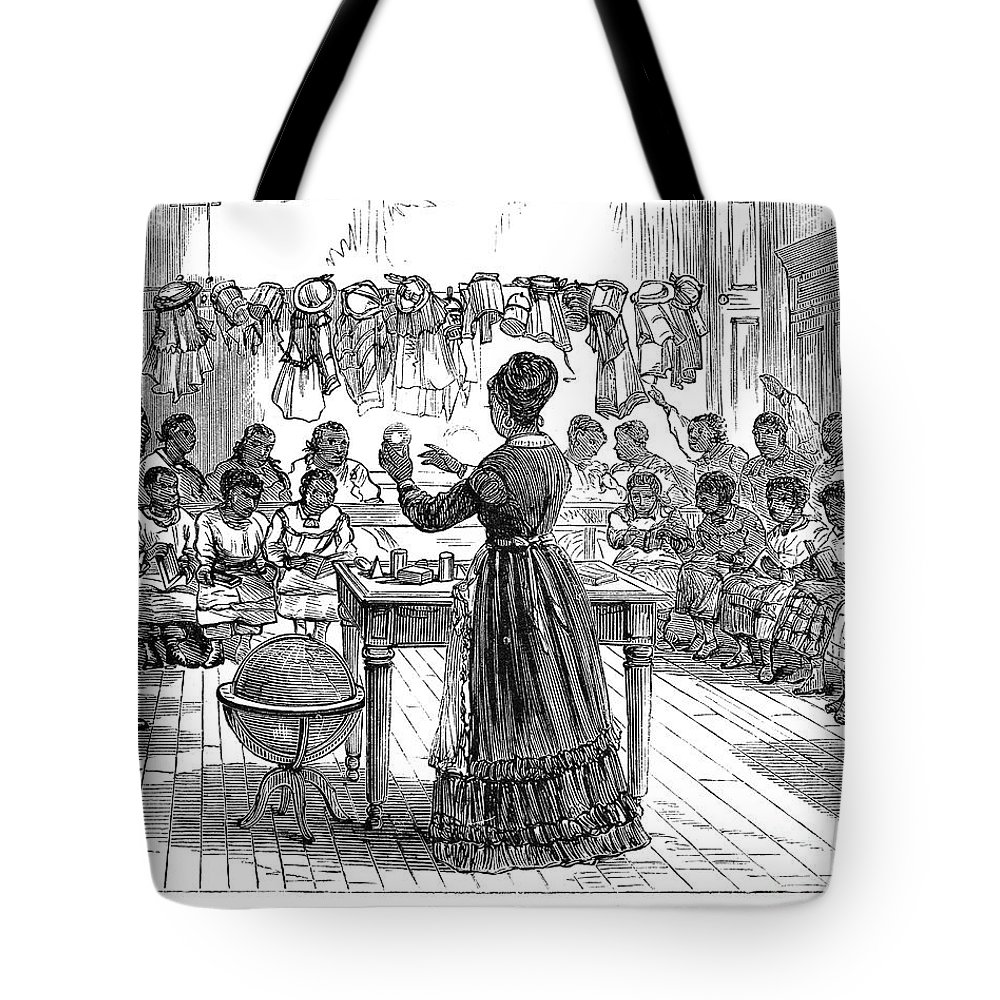 1870 Tote Bag featuring the photograph Segregated School, 1870 by Granger
