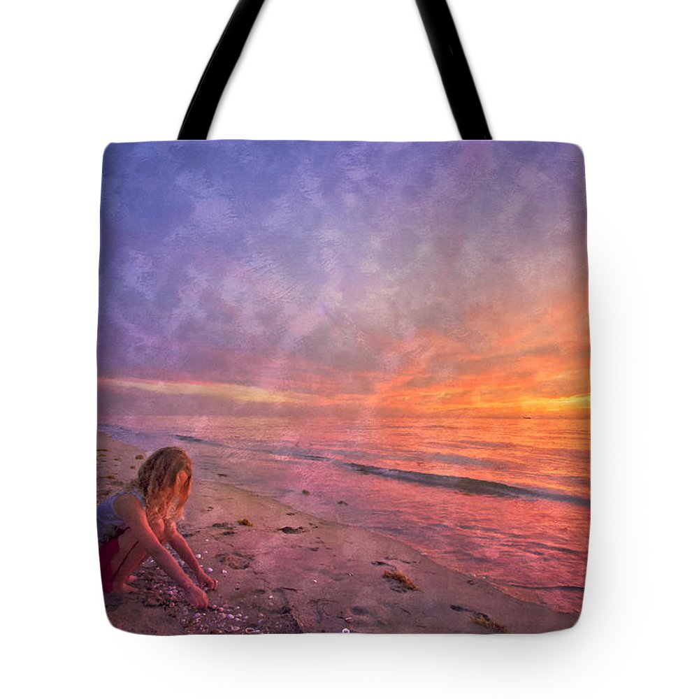 Clouds Tote Bag featuring the photograph Shelling by Debra and Dave Vanderlaan