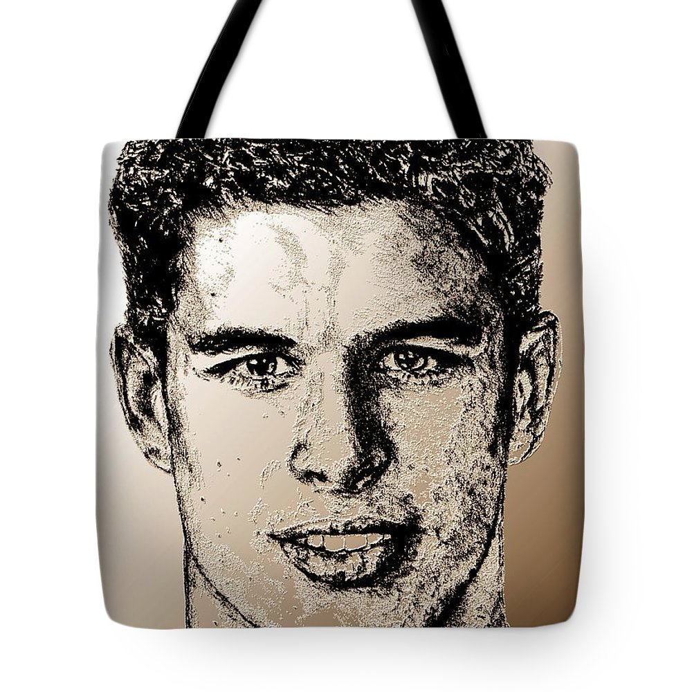 Sidney Crosby Tote Bag featuring the digital art Sidney Crosby In 2007 by J McCombie