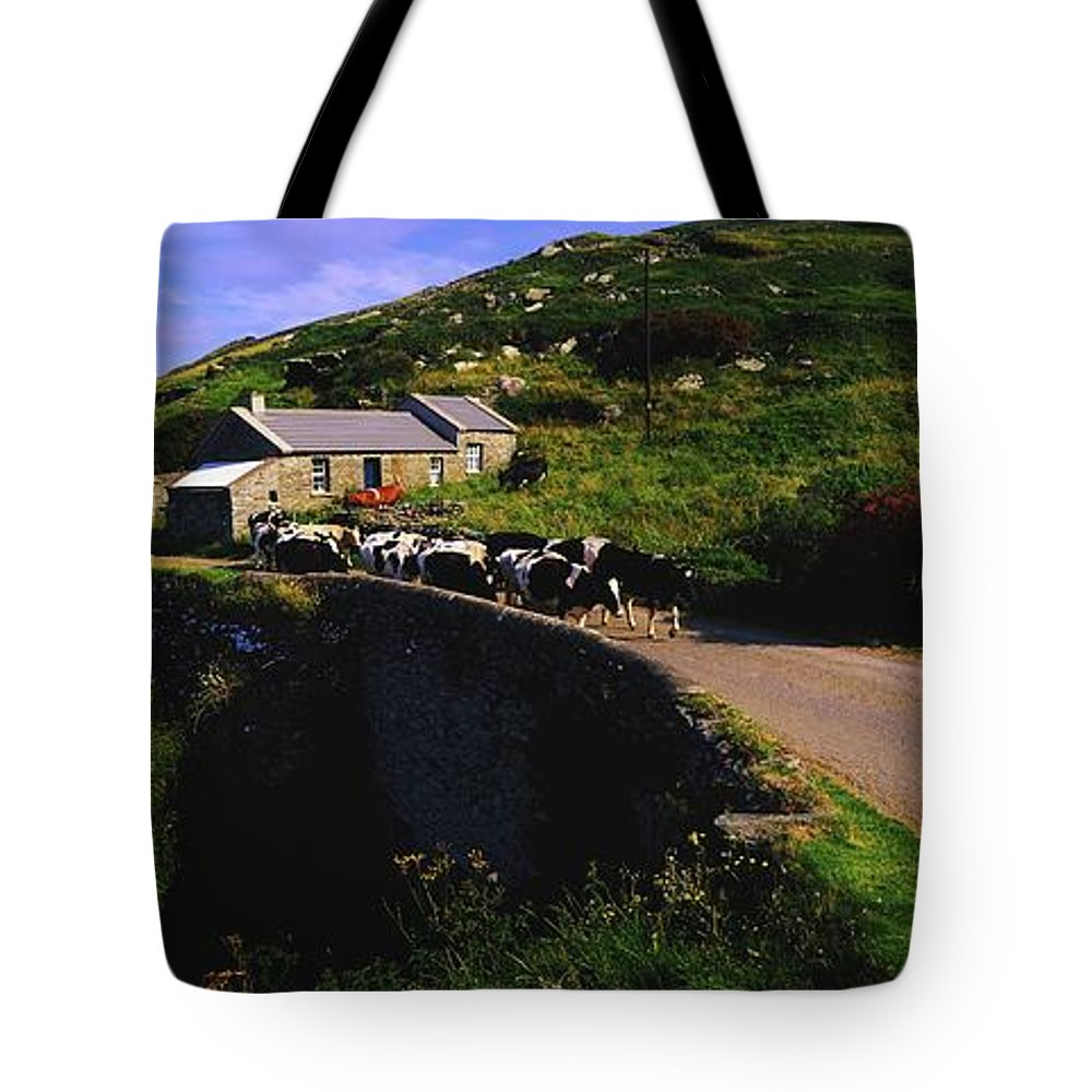 Architecture Tote Bag featuring the photograph Slea Head, Dingle Peninsula, Co Kerry by The Irish Image Collection