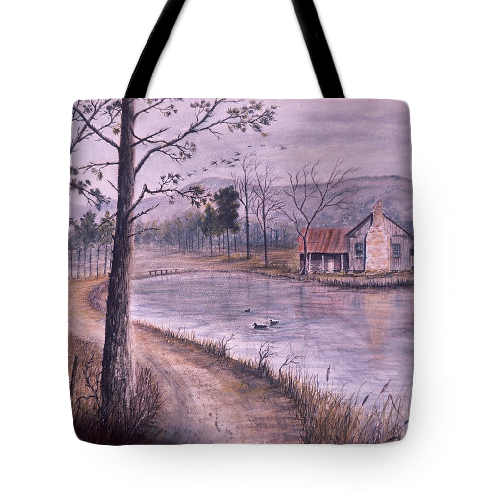 Morning Tote Bag featuring the painting South Carolina Morning by Ben Kiger