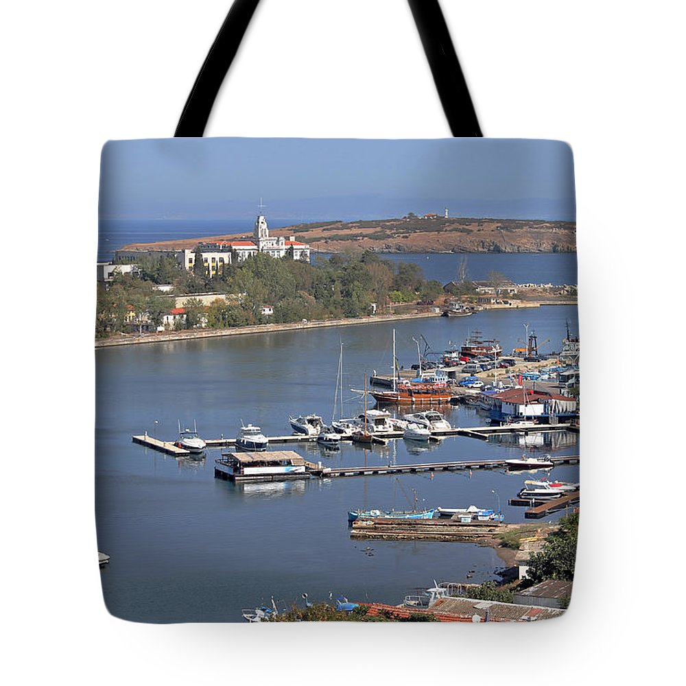 Sozopol Tote Bag featuring the photograph Sozopol Harbour by Tony Murtagh
