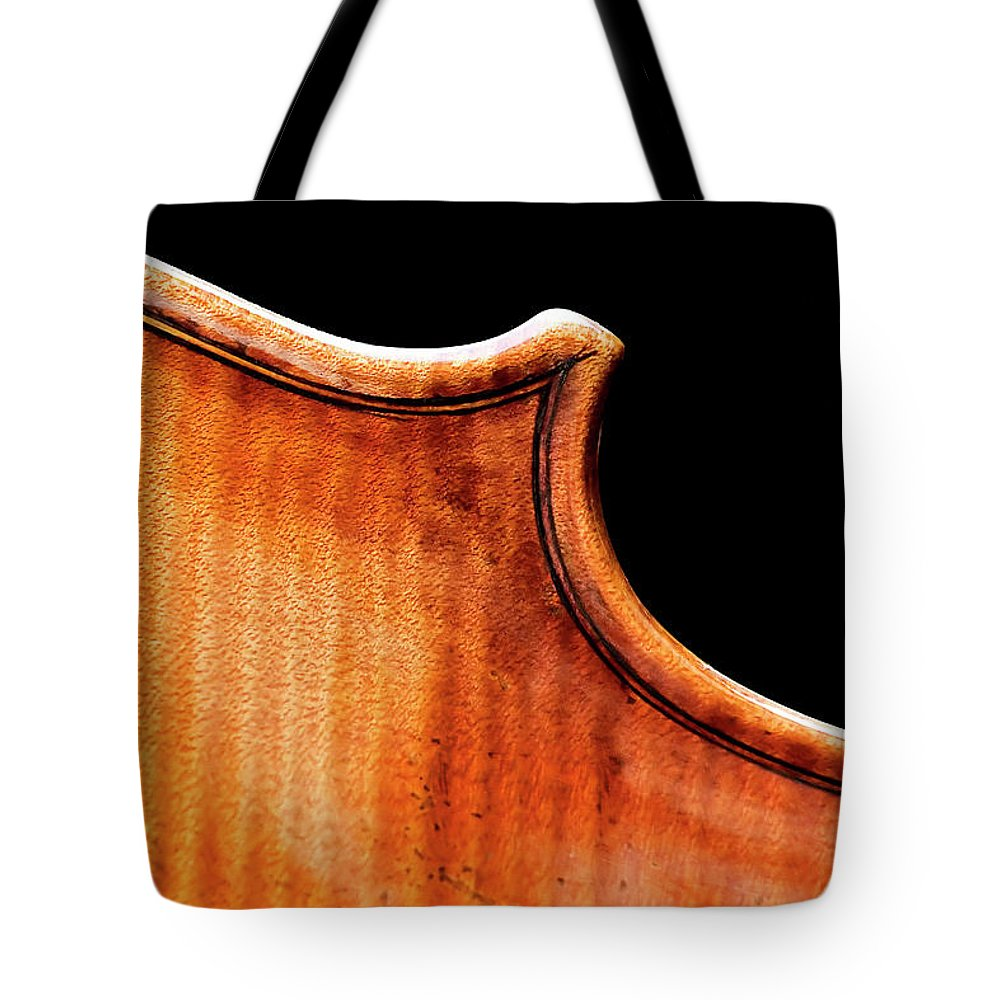 Strad Tote Bag featuring the photograph Stradivarius Back Corner by Endre Balogh