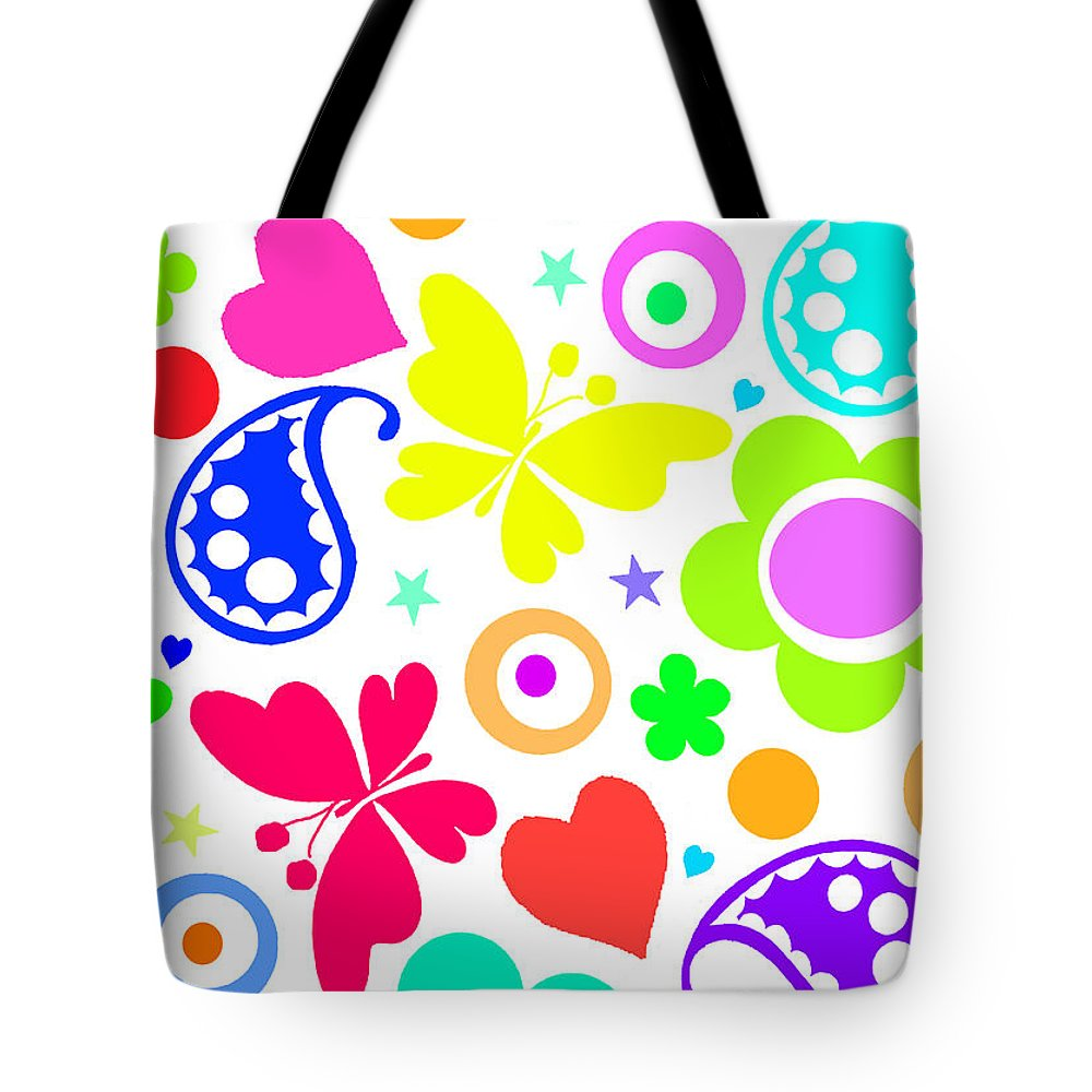 Summer Fun (digital) By Louisa Knight (contemporary Artist) Tote Bag featuring the painting Summer Fun by Louisa Knight