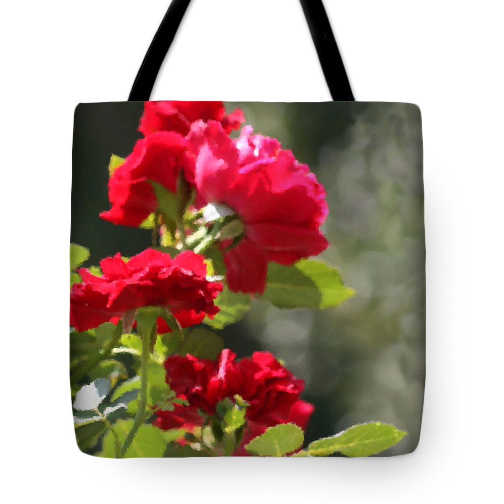 Roses Tote Bag featuring the photograph Summer's Bloom by Kristin Elmquist