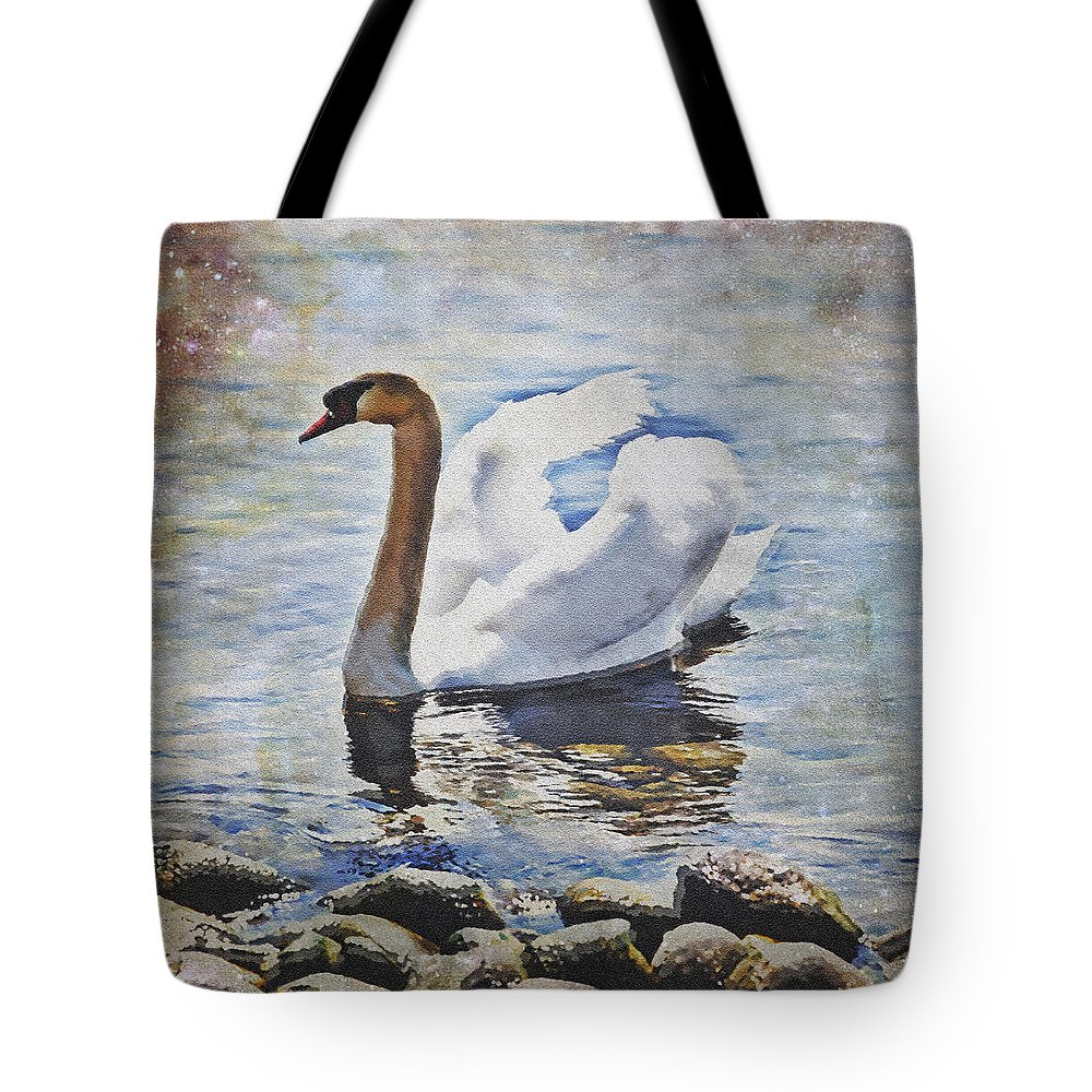 Lake Tote Bag featuring the photograph Swan by Joana Kruse