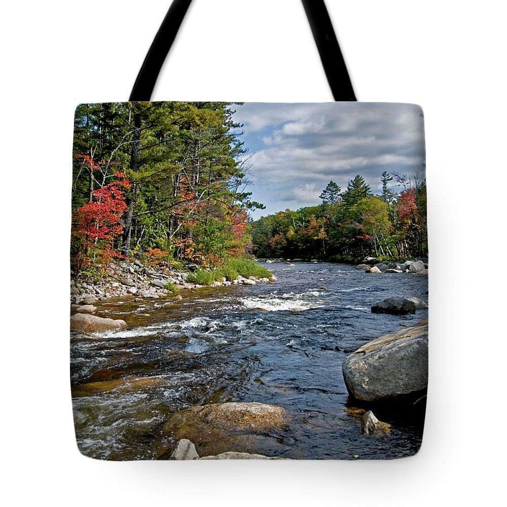 the Swift River Tote Bag featuring the photograph Swift River by Paul Mangold