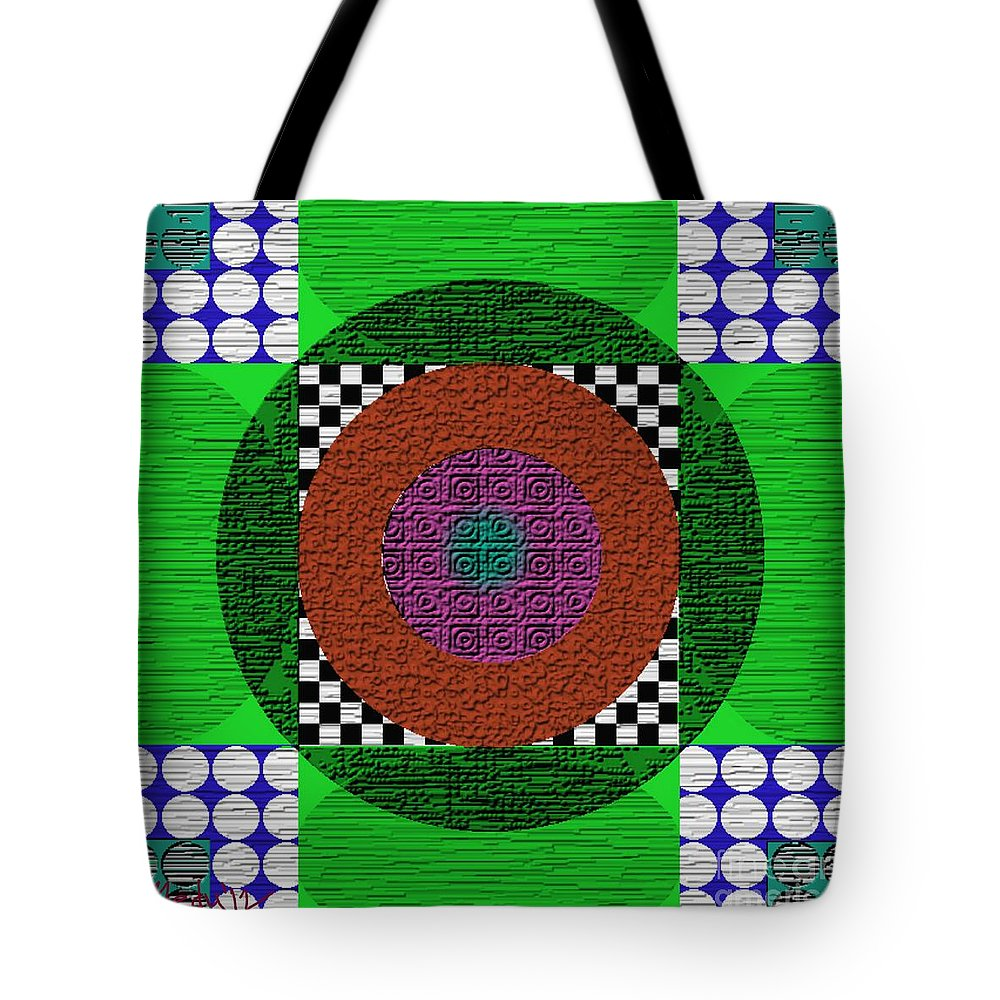 Paintings Tote Bag featuring the painting Symmetrica 160 by Nedunseralathan R
