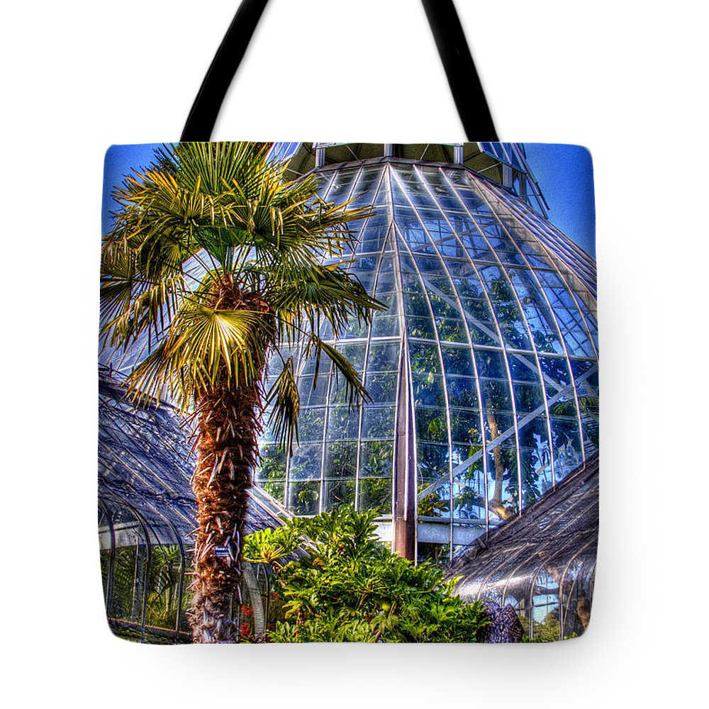 Greenhouse Tote Bag featuring the photograph Tacoma Botanical Conservatory by David Patterson