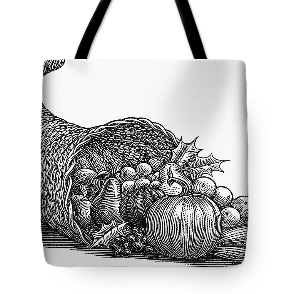19th Century Tote Bag featuring the photograph Thanksgiving: Cornucopia by Granger