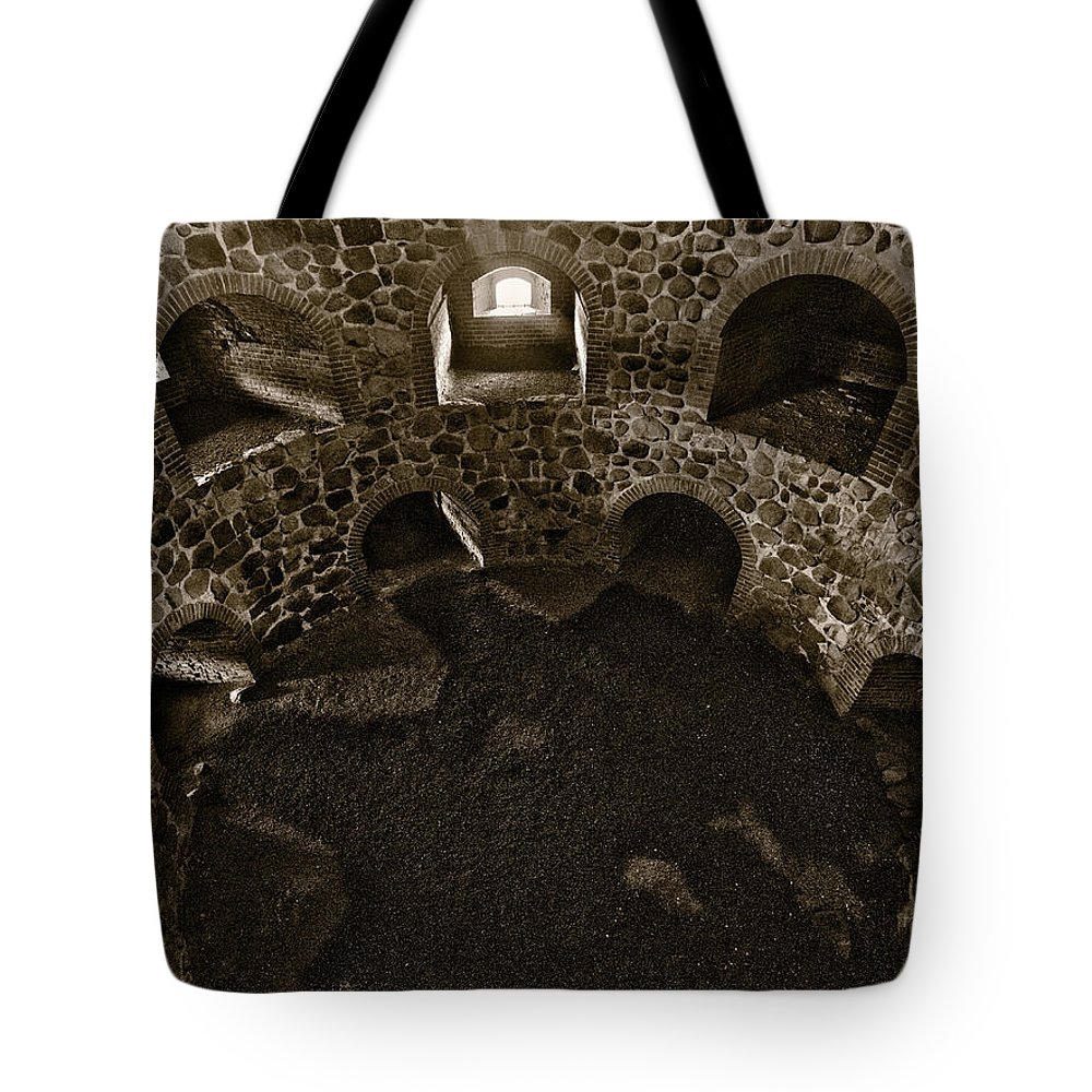 2012 Tote Bag featuring the photograph The Castle Of Tavastehus Bw by Jouko Lehto