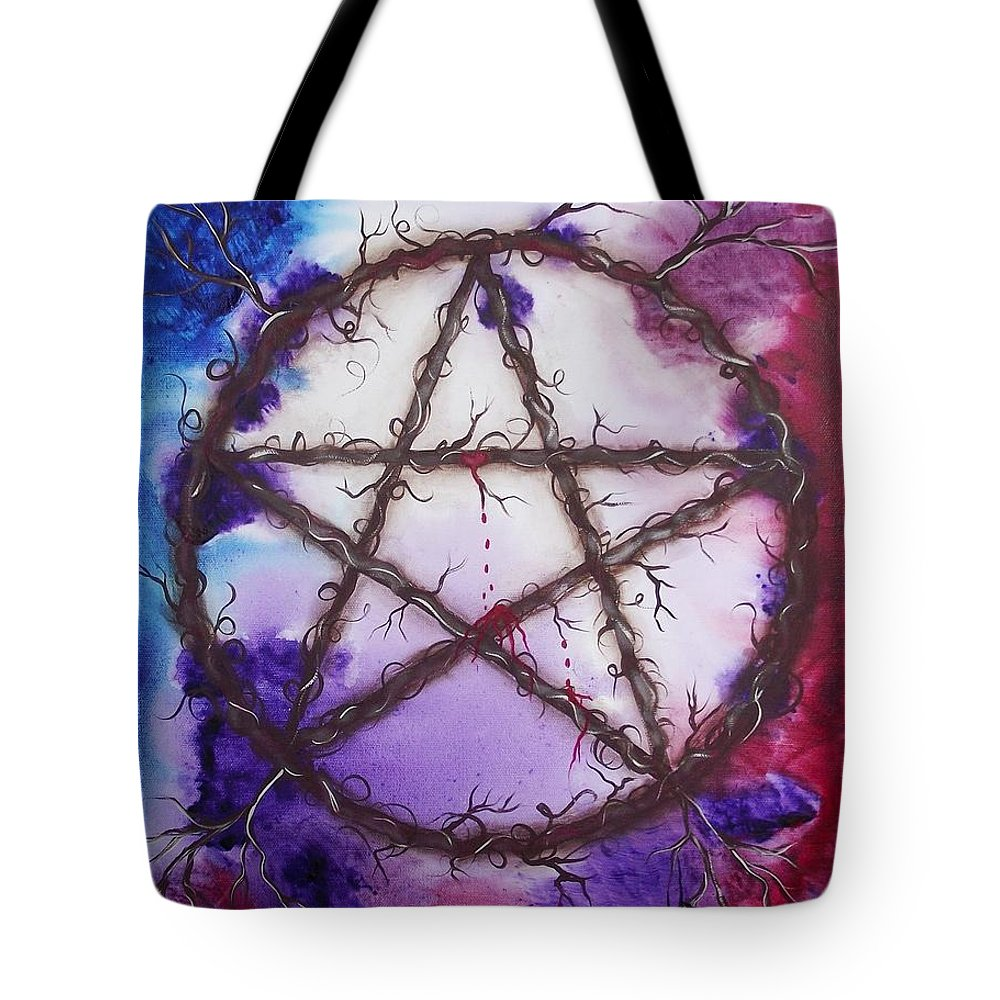 Goddess Tote Bag featuring the painting The Goddess Speaks by Rain Crow