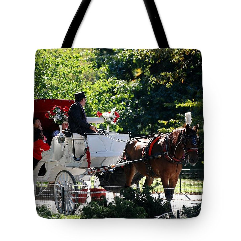 Central Park Tote Bag featuring the photograph The Ride Thru The Park by Rob Hans
