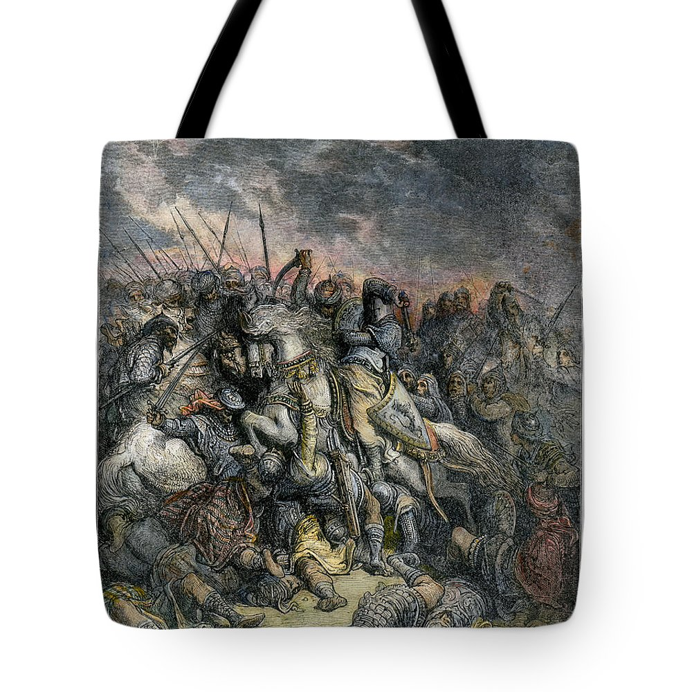 1190s Tote Bag featuring the photograph Third Crusade, 1191 by Granger