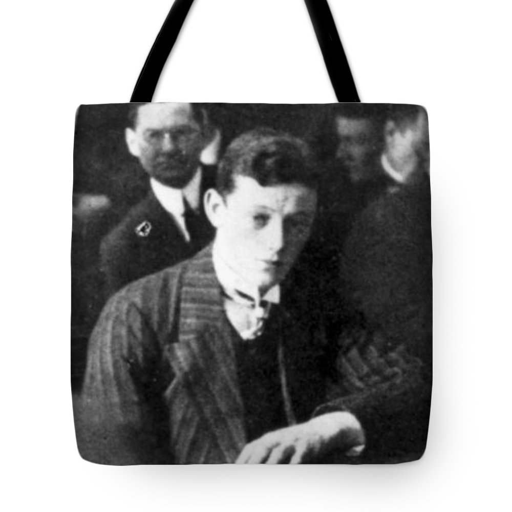 1912 Tote Bag featuring the photograph Titanic: Harold Cottam by Granger