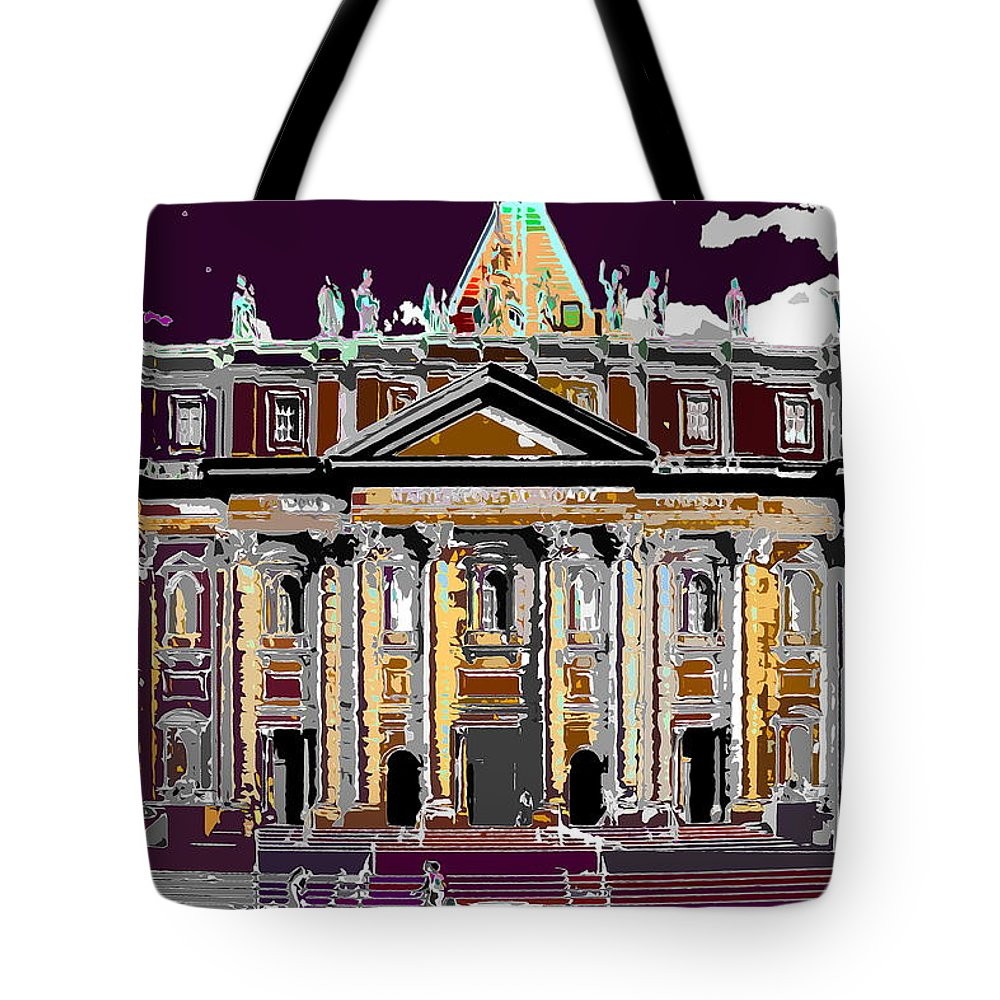 Church Tote Bag featuring the photograph Tourist Magnet by Burney Lieberman