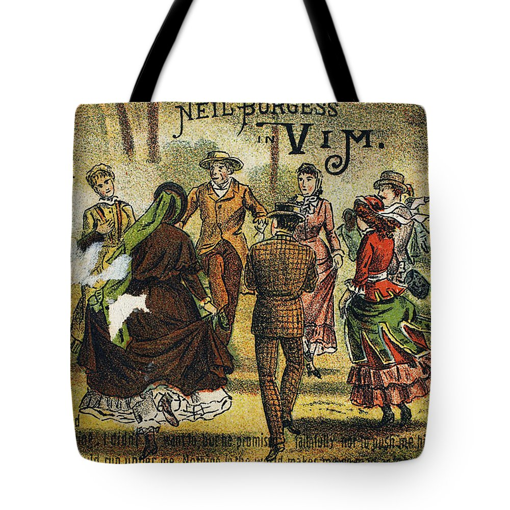 1880 Tote Bag featuring the photograph Trade Card, C1880 by Granger