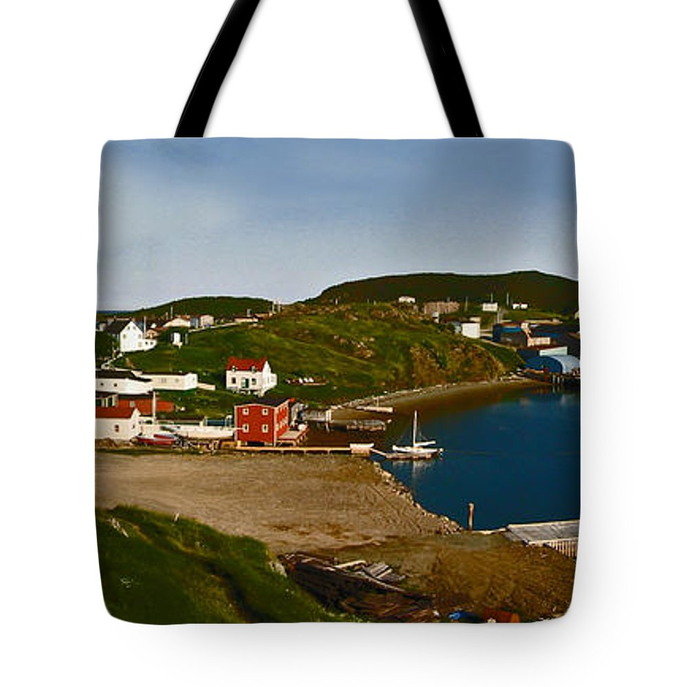 Seascape Tote Bag featuring the photograph Two Good Arms Newfoundland by Barbara McMahon