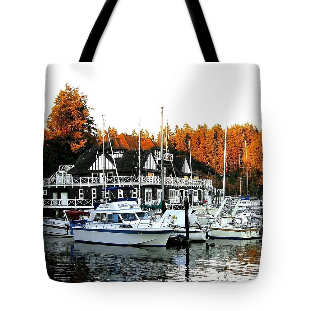 Vancouver Rowing Club Tote Bag featuring the photograph Vancouver Rowing Club by Will Borden