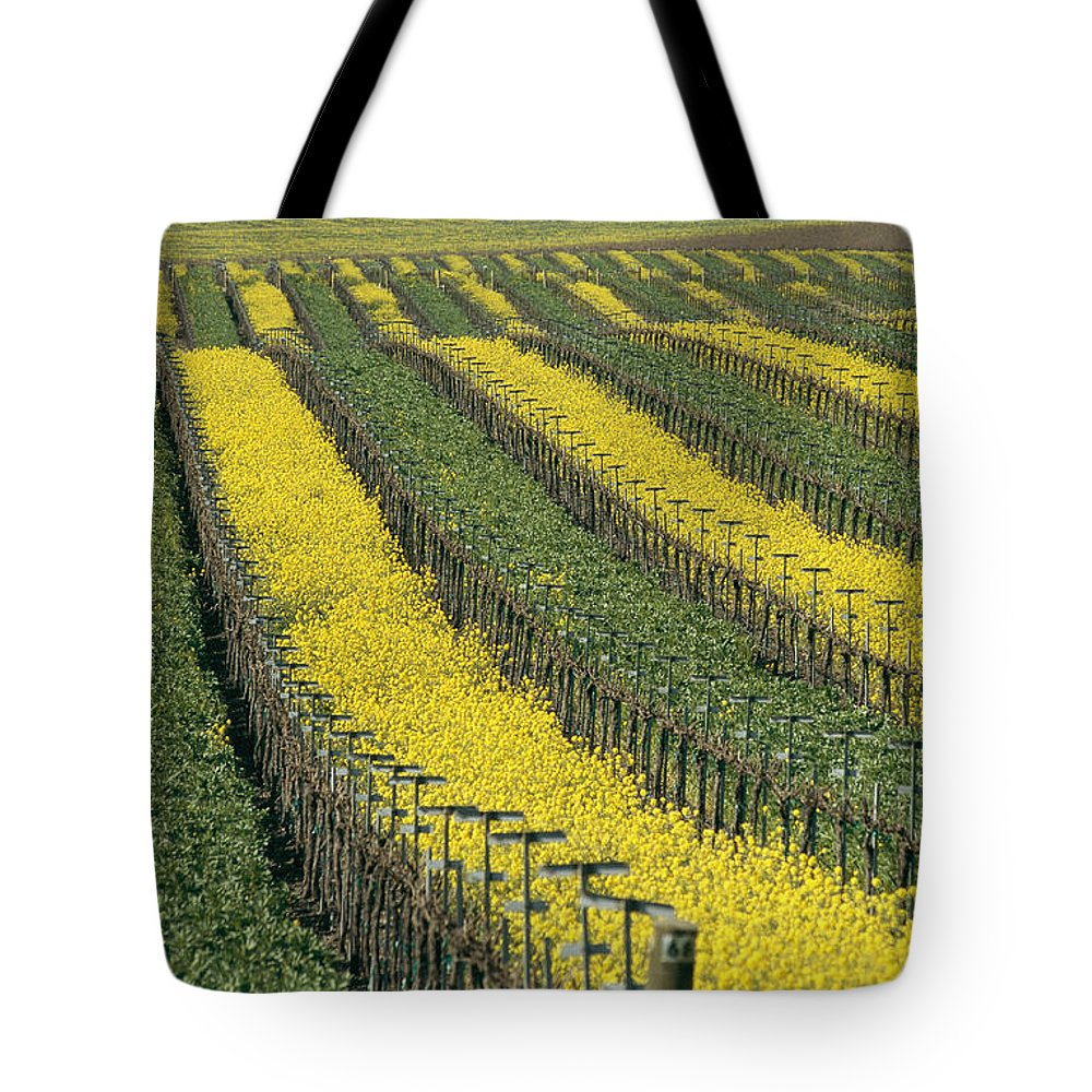 Fields Tote Bag featuring the photograph Vineyards In Californias Edna Valley by Michael S. Lewis