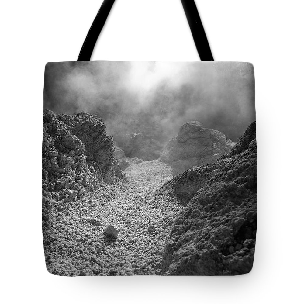 Sulphur Tote Bag featuring the photograph Volcanic Steam by Gaspar Avila