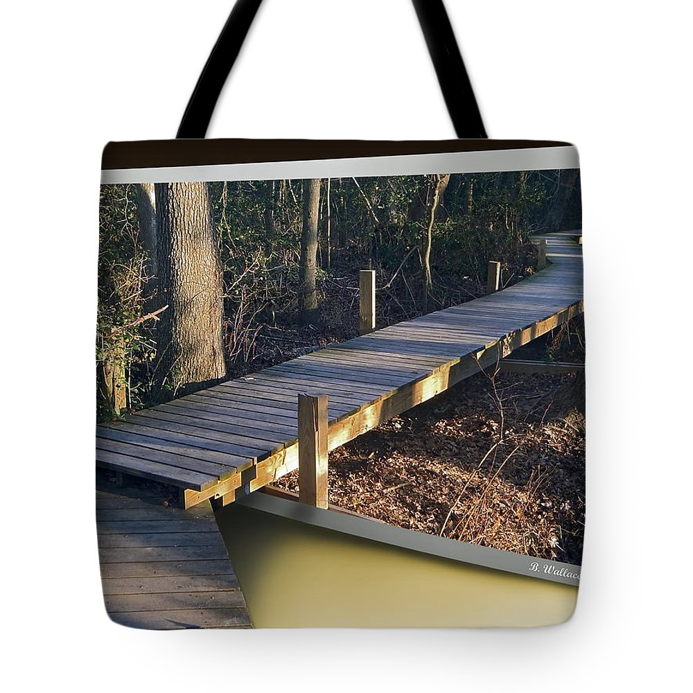 2d Tote Bag featuring the photograph Walk Bridge by Brian Wallace