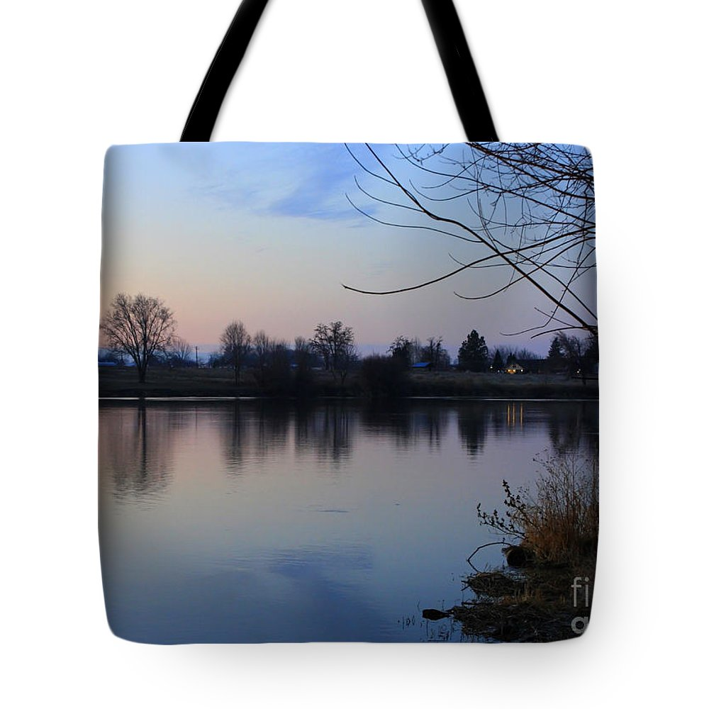 Winter Tote Bag featuring the photograph Winter Calm by Carol Groenen