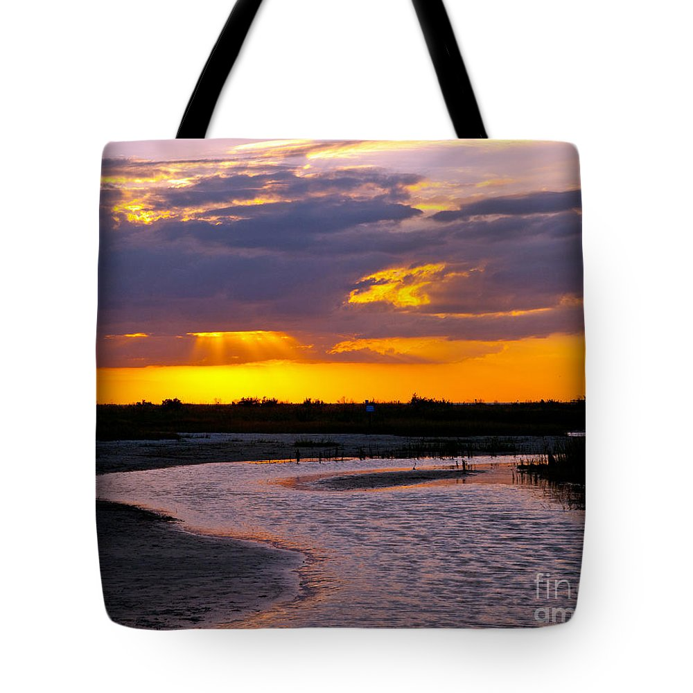 Sunset Tote Bag featuring the photograph Luminous Lavenders by Stephen Whalen