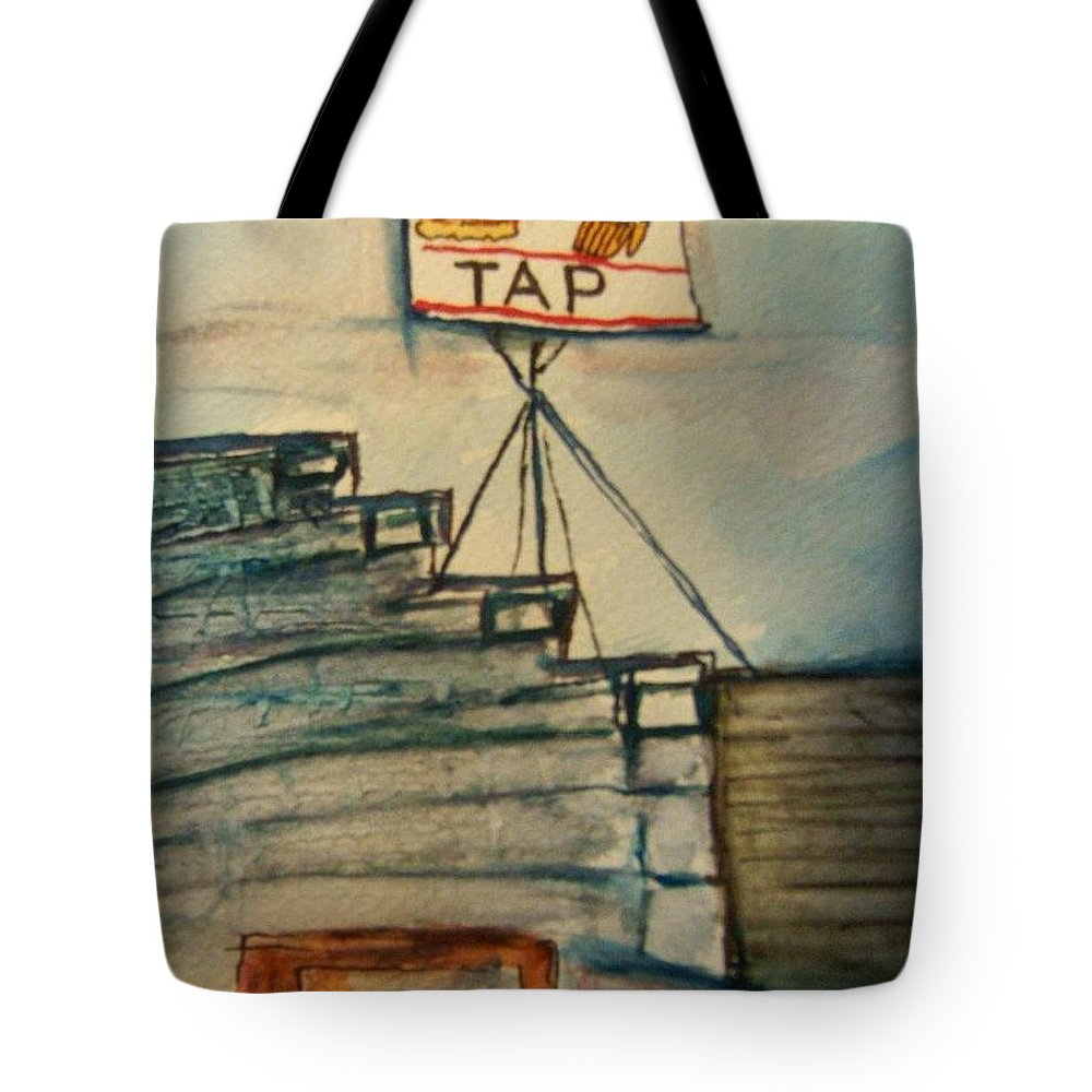 Bar Tote Bag featuring the painting Zenda Tap by Elaine Duras