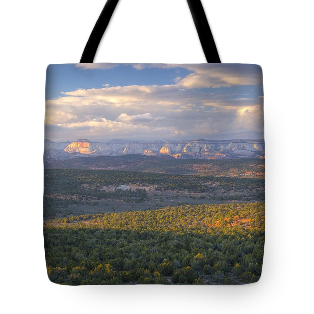 National Park Tote Bag featuring the photograph Zion Distant by Idaho Scenic Images Linda Lantzy