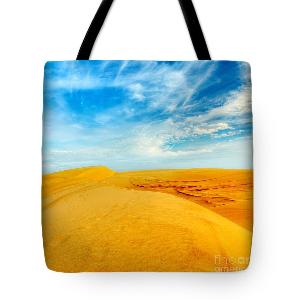 Dunes Tote Bag featuring the photograph Desert by MotHaiBaPhoto Prints
