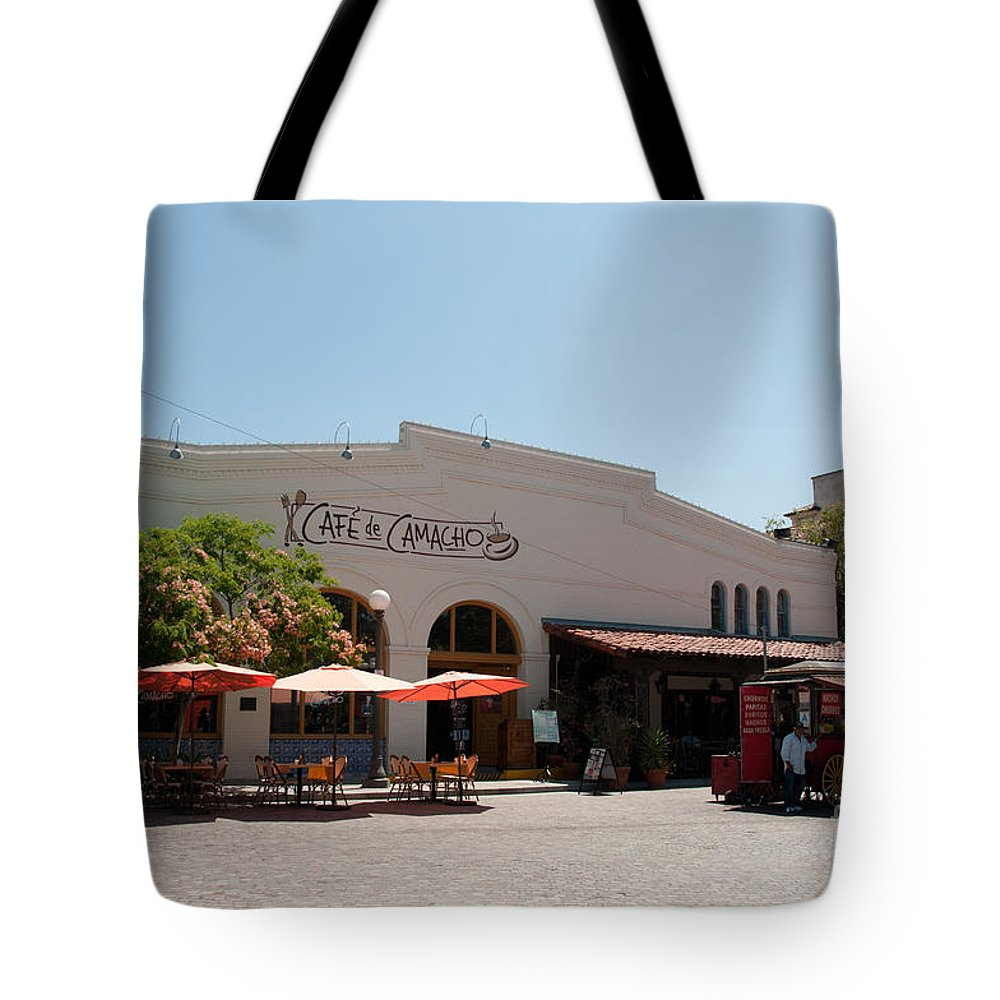 California Tote Bag featuring the digital art El Pueblo De Los Angeles by Carol Ailles