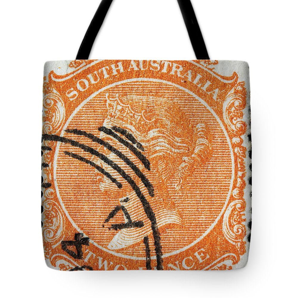 Old Australian Postage Stamp Tote Bag featuring the photograph old Australian postage stamp by James Hill