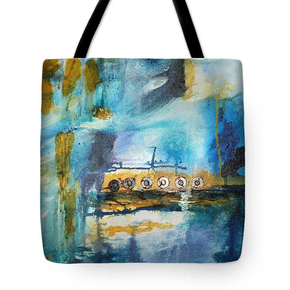 Mixed Media Tote Bag featuring the painting 10 Will Get You 20 by Shelli Finch