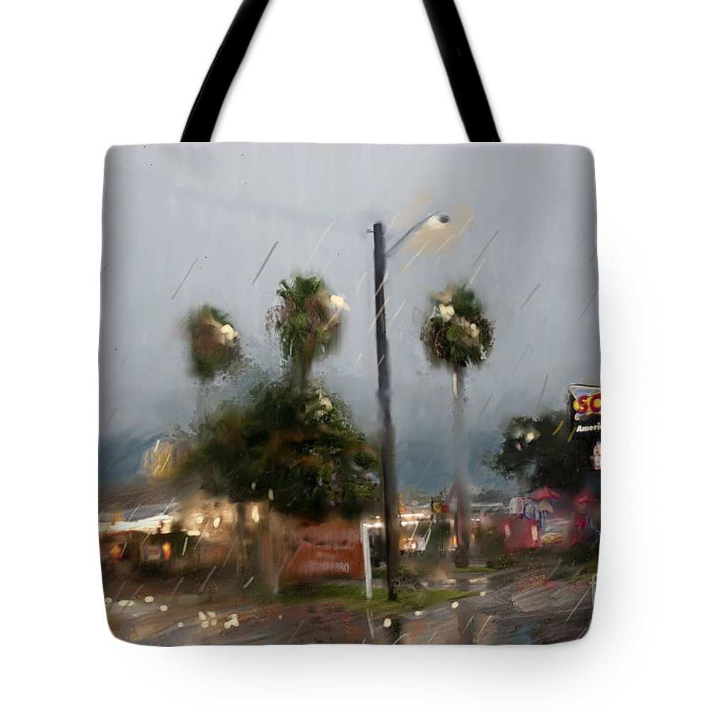 City Tote Bag featuring the photograph 10th Street Mcallen Texas by Dinah Anaya