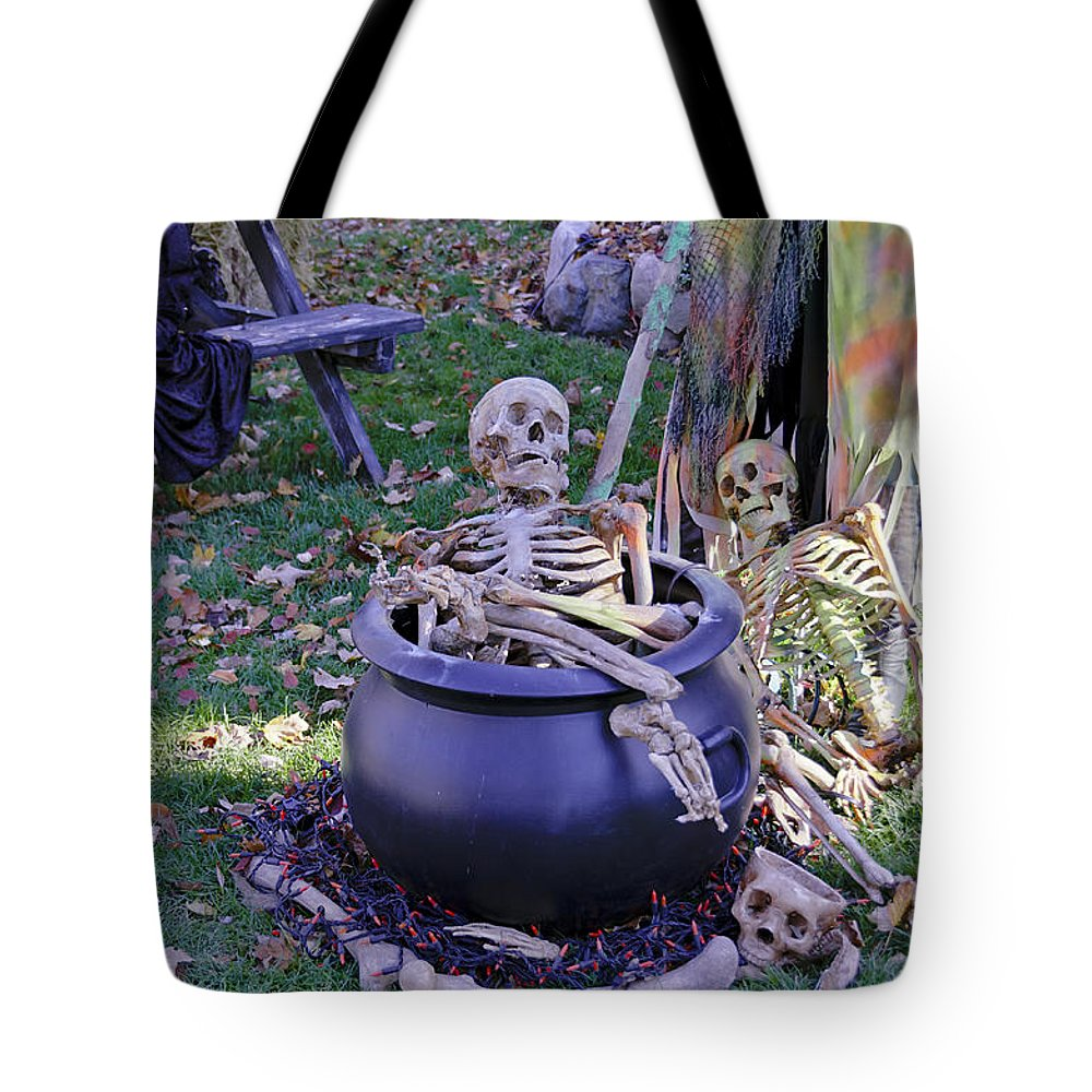 Autumn Tote Bag featuring the photograph Fall Halloween On Tillson Street by LeeAnn McLaneGoetz McLaneGoetzStudioLLCcom