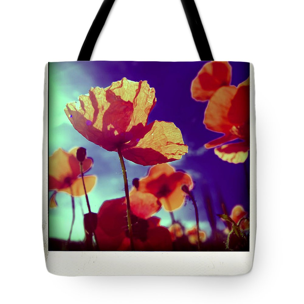 Botany Tote Bag featuring the photograph Field Of Poppies by Bernard Jaubert
