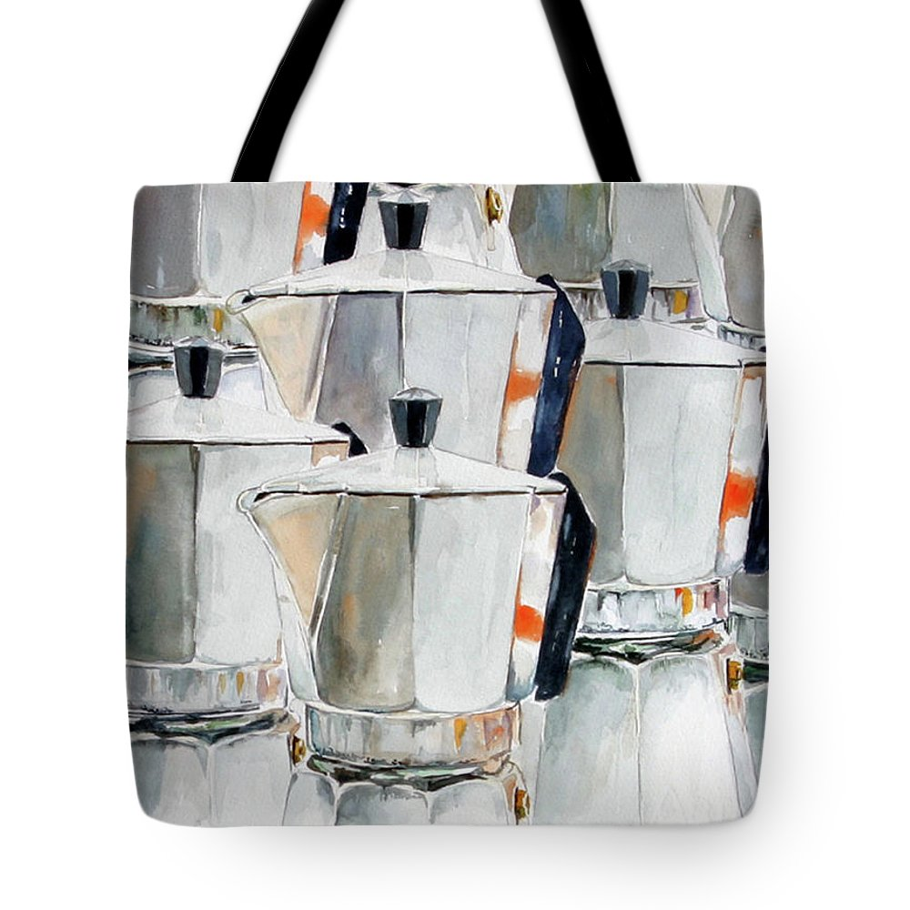 Still Life Tote Bag featuring the painting 11 Moka by Giovanni Marco Sassu