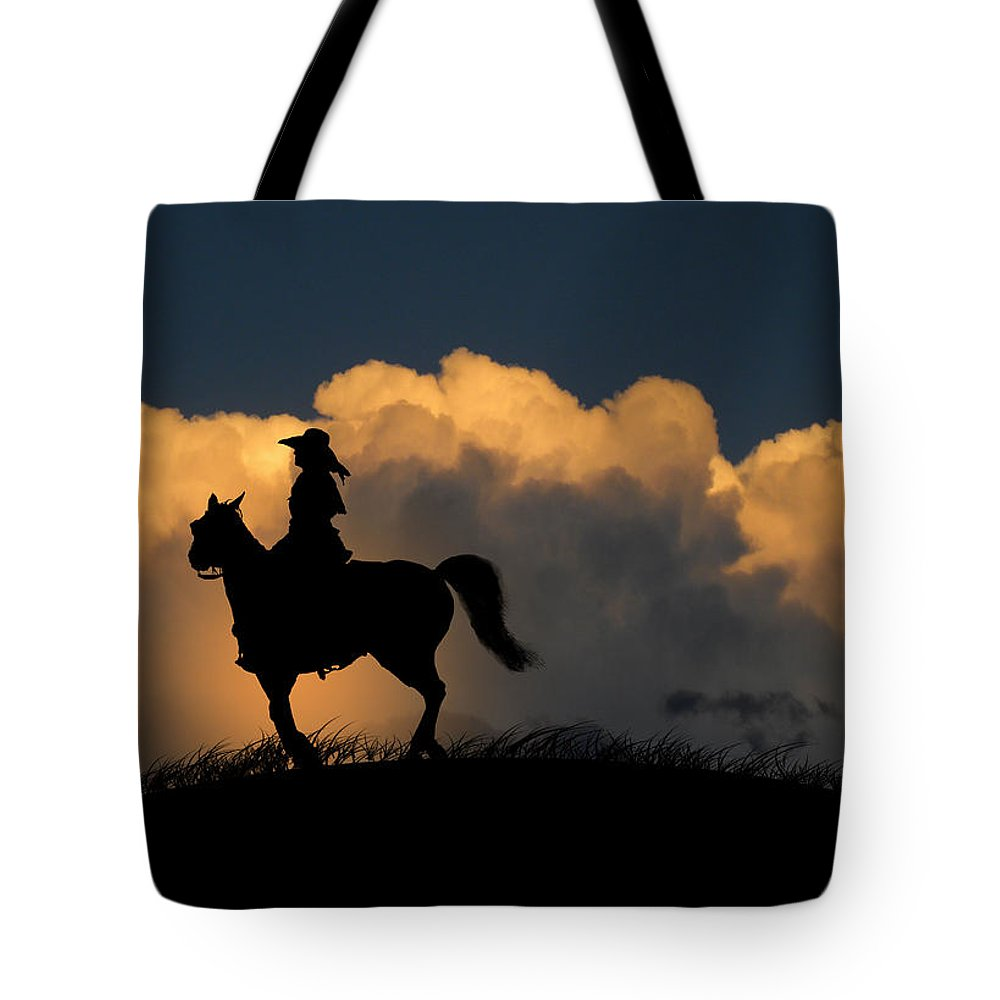Cowgirl Tote Bag featuring the photograph 1127 by Peter Holme III