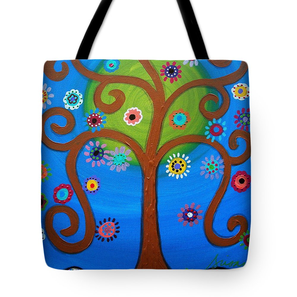 Day Of The Dead Tote Bag featuring the painting Dia De Los Muertos by Pristine Cartera Turkus