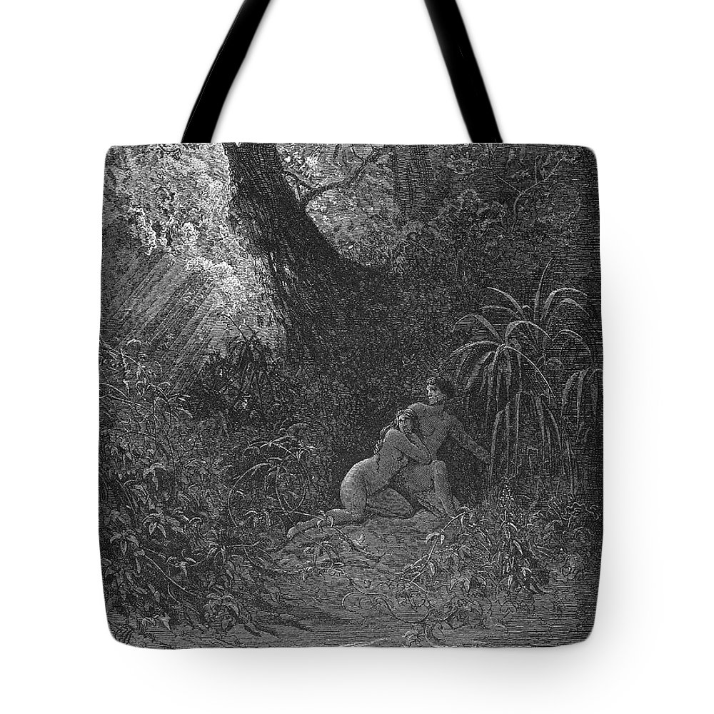 19th Century Tote Bag featuring the photograph Milton: Paradise Lost by Granger