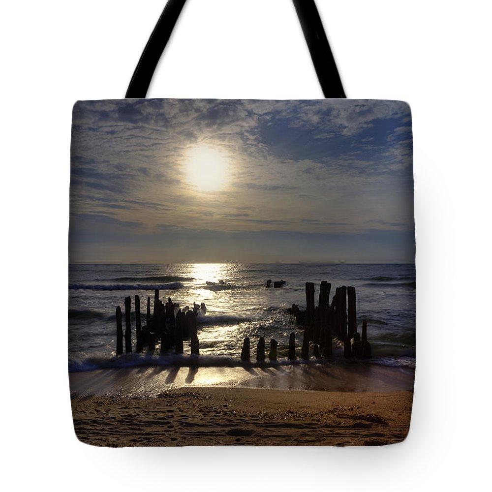 Groyne Tote Bag featuring the photograph Sylt by Joana Kruse
