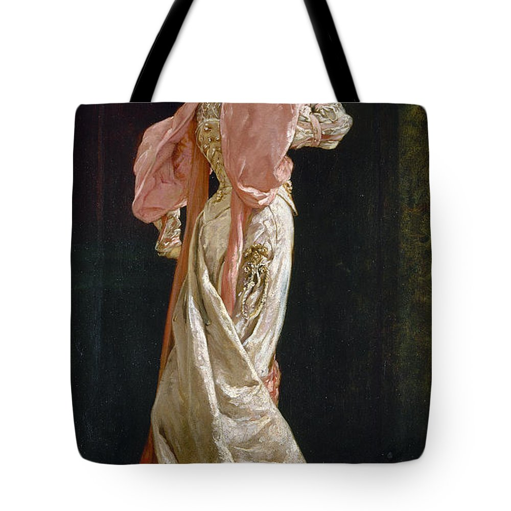 1879 Tote Bag featuring the photograph Sarah Bernhardt (1844-1923) by Granger