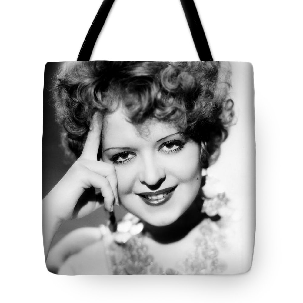1930s Tote Bag featuring the photograph Clara Bow (1905-1965) by Granger
