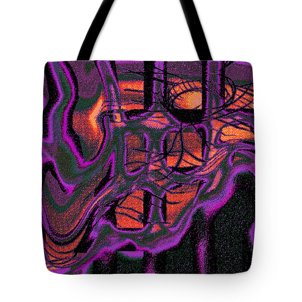 Abstract Design Tote Bag featuring the digital art Digital Picture 155o3 by Oleg Trifonov