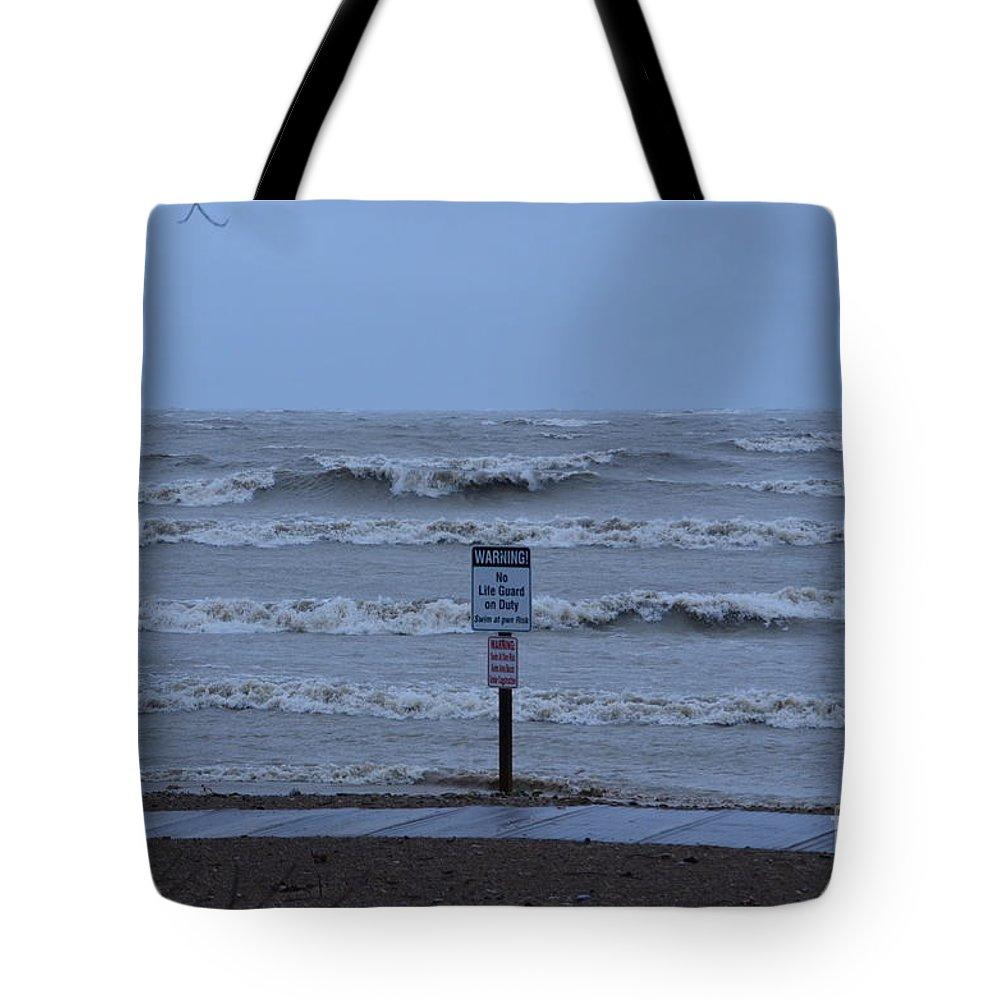 Hurricane Tote Bag featuring the photograph Hurricane Sandy by Randy J Heath