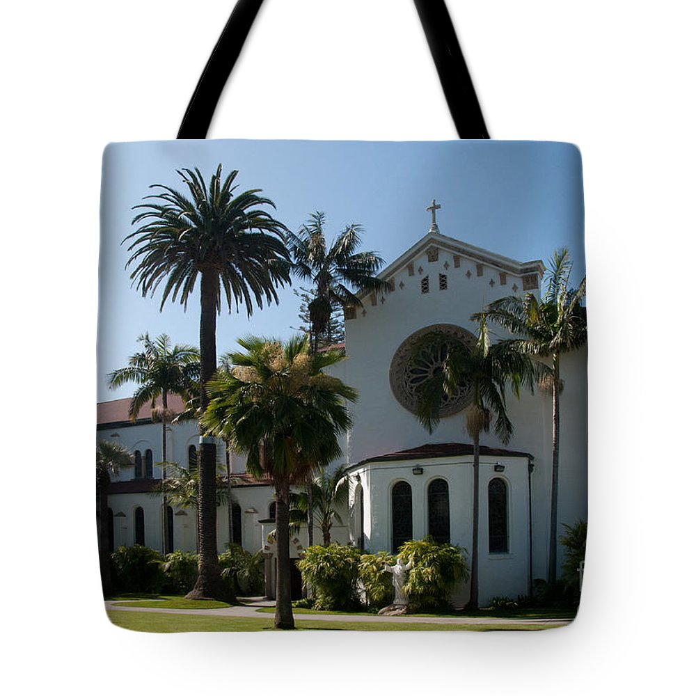 California Tote Bag featuring the digital art Santa Barbara by Carol Ailles