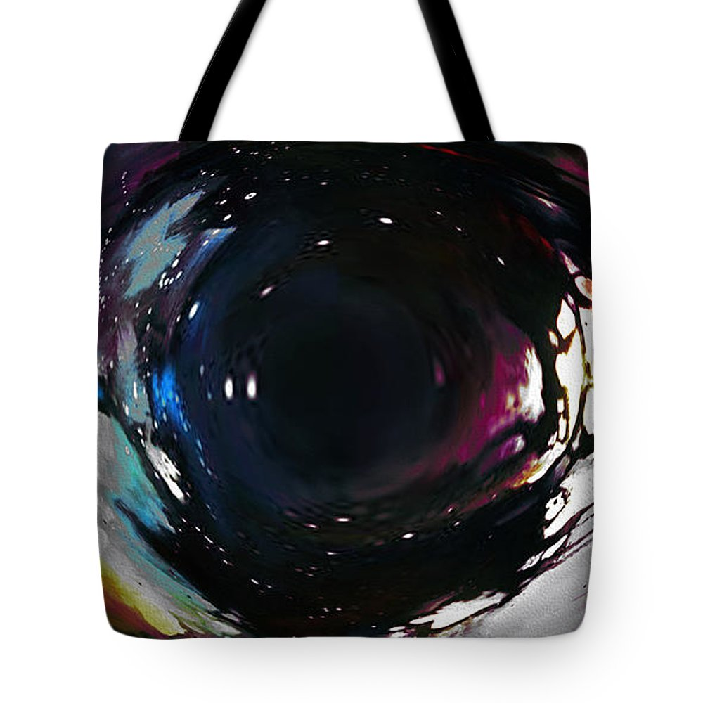 Tote Bag featuring the digital art The Eye by Mihaela Stancu