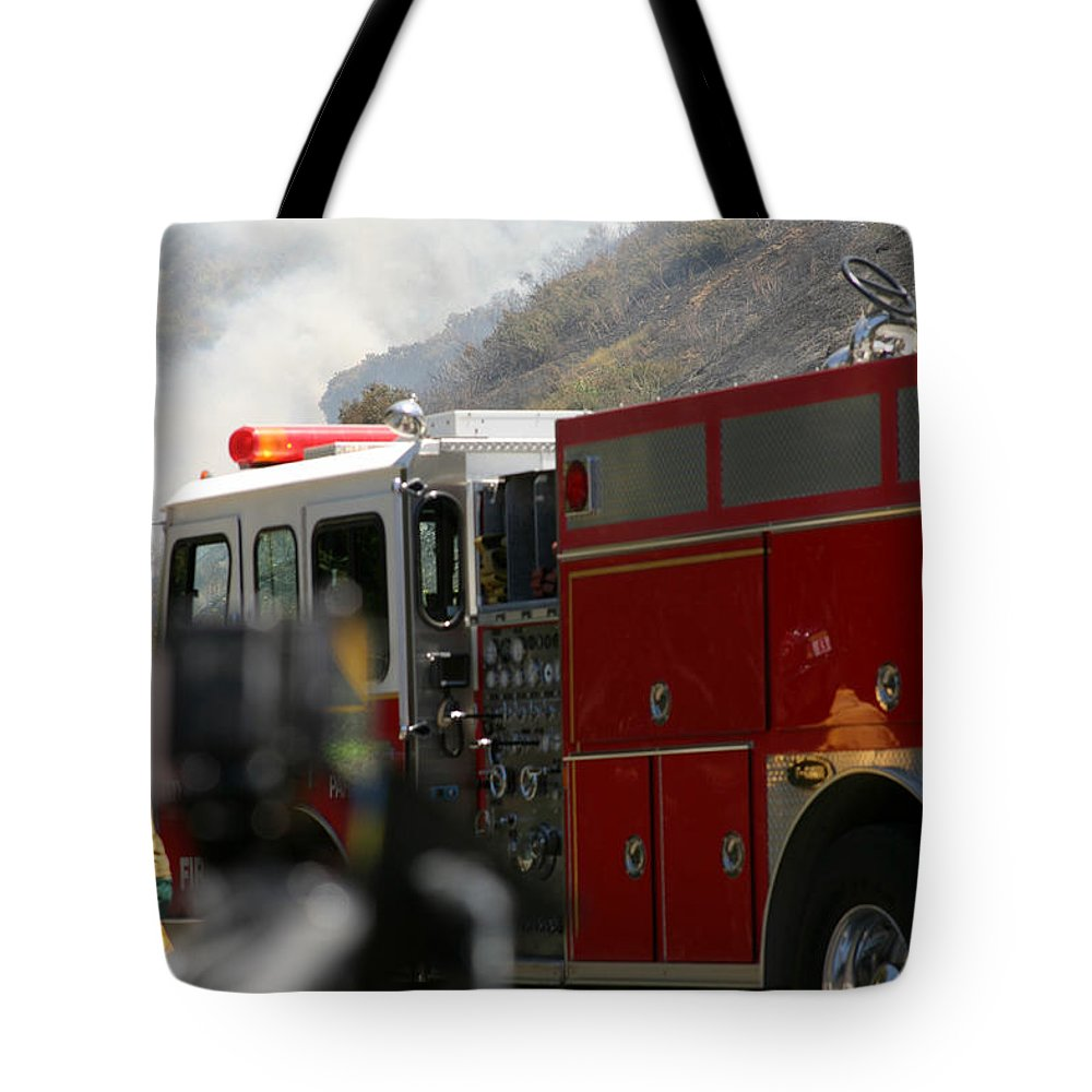 Ash Tote Bag featuring the photograph Barnett Fire by Henrik Lehnerer