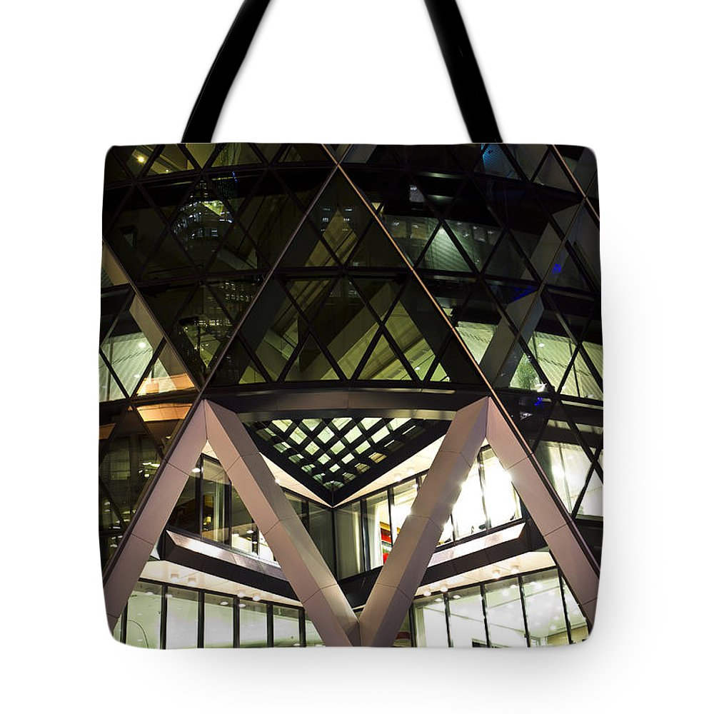 Gherkin Tote Bag featuring the photograph The Gherkin London by David Pyatt